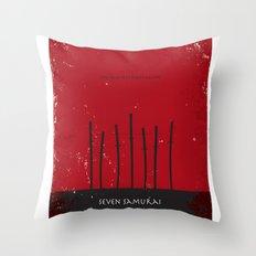 Seven Samurai Throw Pillow