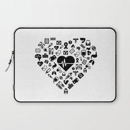 I Love First Aid | Doctor Nurse Heart Hospital Laptop Sleeve