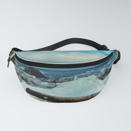 Spring Comes to the Beach in Ice that glows Blue Fanny Pack