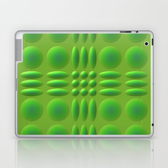 Puffy Green Laptop & iPad Skin