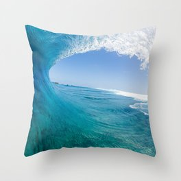 Blue Wave Throw Pillow