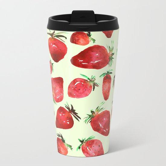 Strawberry vibes Metal Travel Mug
