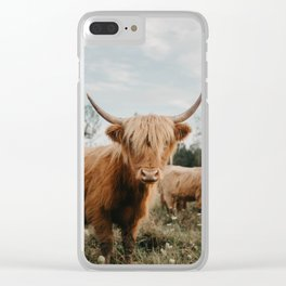 Highland Cow In The Country Clear iPhone Case