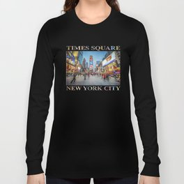 Times Square Sparkle (with typography) Long Sleeve T-shirt