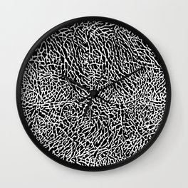 Elephant Print Texture - Black and White Wall Clock