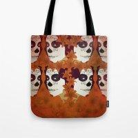 calavera Tote Bags featuring Calavera by Eveline