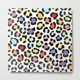 Trendy Multicolor Leopard Fur Effect Pattern Metal Print