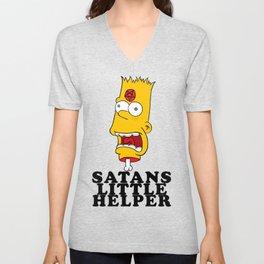 Satans Little Helper Unisex V-Neck
