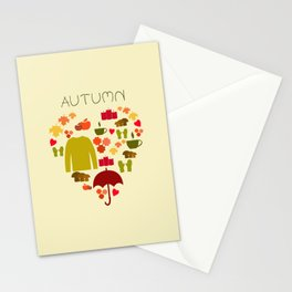 Love autumn Stationery Cards