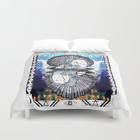 aquarius Duvet Covers featuring Aquarius by Caroline Vitelli GOODIES