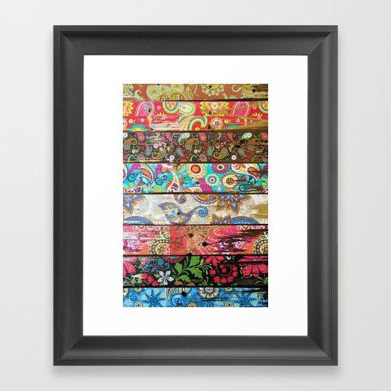 Paisley Planks Framed Art Print