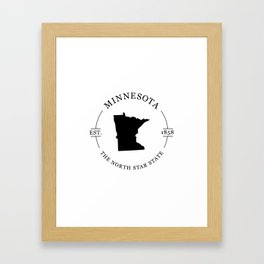 Minnesota - The North Star State Framed Art Print