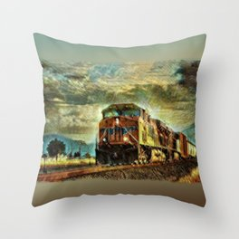 Observance Valley Freight Line Throw Pillow