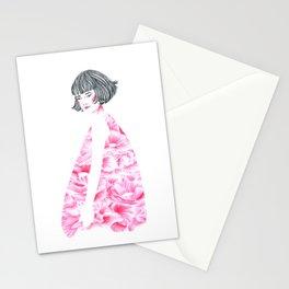 poppy girl Stationery Cards