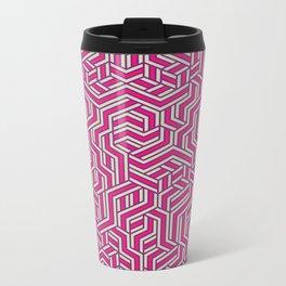 Bubblegum Maze Metal Travel Mug