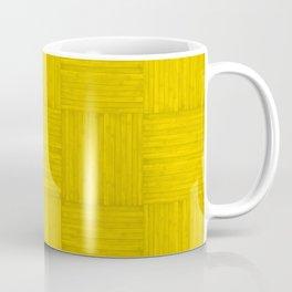 Gold Yellow Faux Bois Wood Pattern Coffee Mug