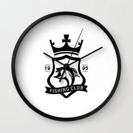 Fishing club est 1995 Wall Clock