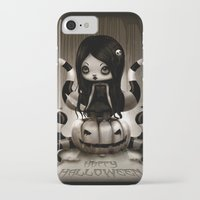 halloween iPhone & iPod Cases featuring Halloween by Liransz
