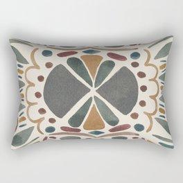 Watercolor Tiles in Earth Tones Rectangular Pillow
