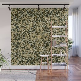 Green and Gold Elegance Wall Mural
