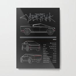 cybertruck Metal Print