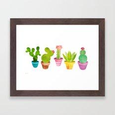 Cactus Plants In Pretty Pots Framed Art Print