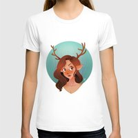 fawn T-shirts featuring Fawn by Lauren Draghetti