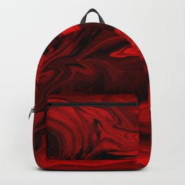 Blood Red Marble Backpack