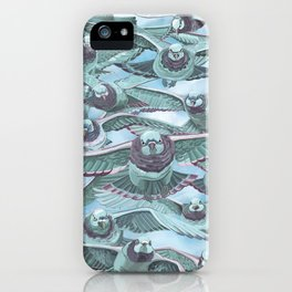 Pigeon Squad Illustration by Asia Orlando iPhone Case