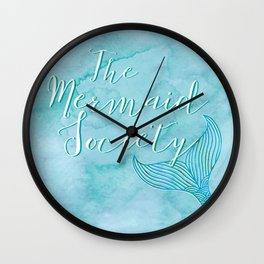 The Mermaid Society Wall Clock