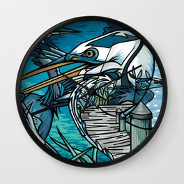 The Chesapeake Bay Blues Wall Clock
