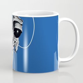Astronaut Floating in Blue Space Coffee Mug