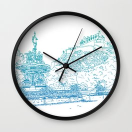 Princes Street Gardens Wall Clock