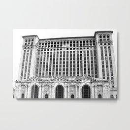 MICHIGAN CENTRAL TRAIN STATION - DETROIT Metal Print