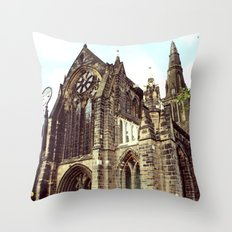 glasgow cathedral medieval cathedral Throw Pillow