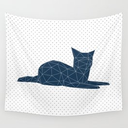 Faceted Cat Wall Tapestry
