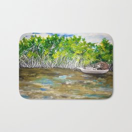 Florida Mangrove Tea Water in the Everglades Bath Mat