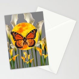 FANTASIC MONARCH BUTTERFY MOON & CALLA LILIES Stationery Cards