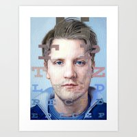 mike wrobel Art Prints featuring Mike by Justin Yanke