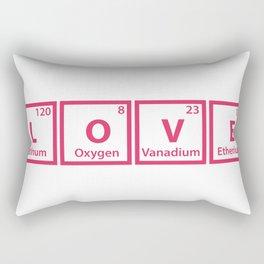 LOVE (chemical symbols) Rectangular Pillow