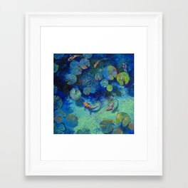 Taiwanese Blue Framed Art Print