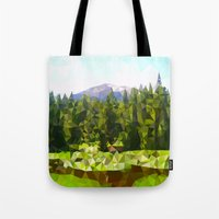 forrest Tote Bags featuring Forest Green by IvanaW