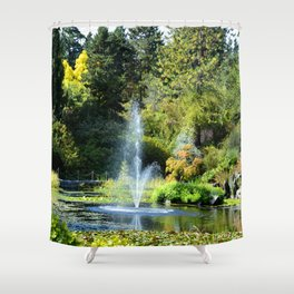 Fountain at VanDusen Botanical Garden Shower Curtain