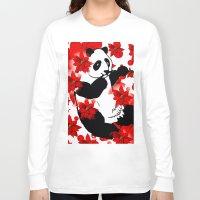 red panda Long Sleeve T-shirts featuring Panda by Saundra Myles