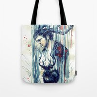 will graham Tote Bags featuring Will Graham by AkiMao