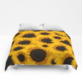 Sunflower Love Comforters