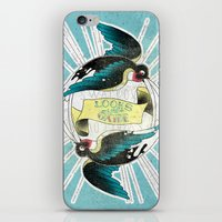 swallow iPhone & iPod Skins featuring Swallow by Chiara Sgatti