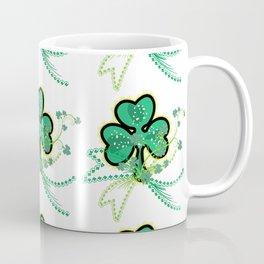 Shamrock Flourish Saint Patrick's Day Lucky Symbol Vector Coffee Mug