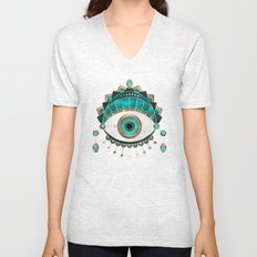 Teal Eye Unisex V-Neck