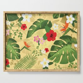 Tropical Flower Background 2 Serving Tray